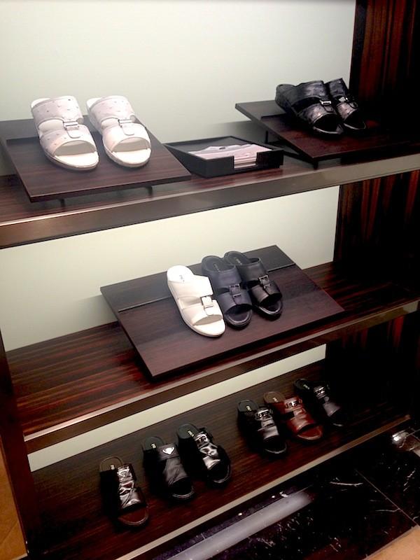 Sapatos especiais na Prada