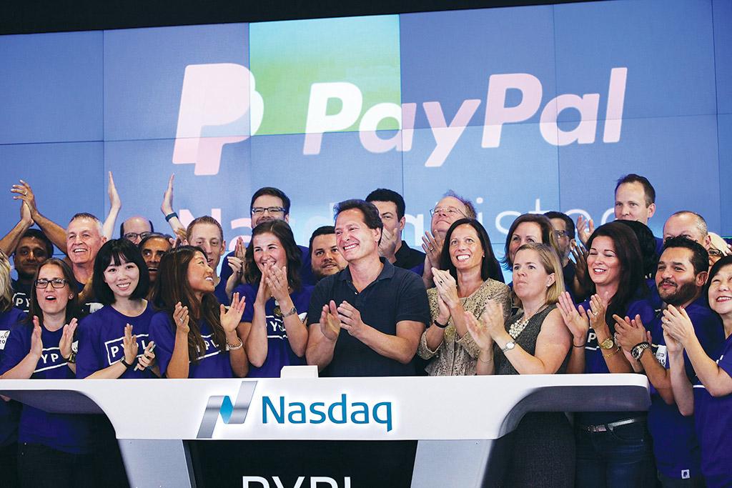 PayPal reestreia na Bolsa Nasdaq em 2015 (Getty Images)