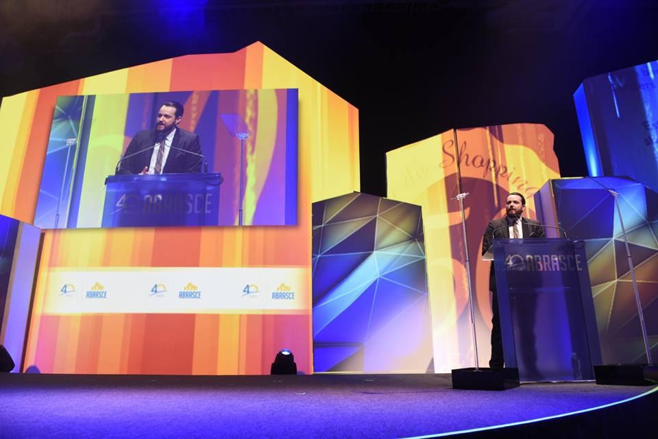Presidente da Abrasce, Glauco Humai, na abertura do 14º Congresso Interrnacional de Shopping Centers